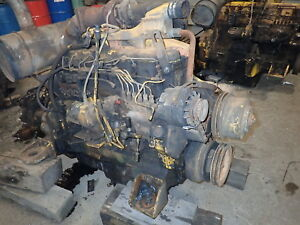 John Deere 6076h Diesel Engine Runs Exc Video 892e Excavator 6466