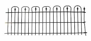 Simple Hoop Spear Wrought Iron Fence Rail Lot