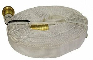 Wasp Forestry Grade Lay Flat Hose With Garden Thread 25 White Free2dayship