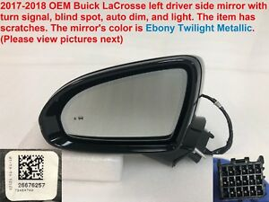2017 2018 Buick Lacrosse Left Side Mirror With Turn Signal Blind Spot 26676257