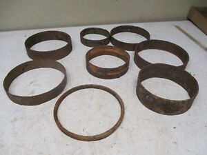 8 Old Iron Hub Rings From Wood Wagon Wheels