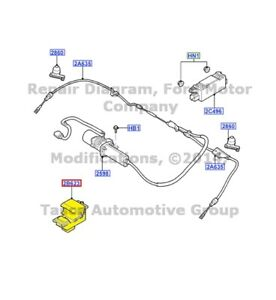 New Oem Electronic Parking Brake Switch 2003 2006 Lincoln Ls 4w4z 2b623 aa