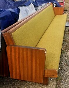 7 Vintage Church Pews Upholstered Padded Seat And Back 12 Long 150 Each