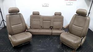 2003 Tundra Driver Passenger Bucket Front Rear Bench Leather Seat Set Wear
