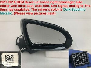 2017 2018 Buick Lacrosse Right Side Mirror With Blind Spot Auto Dim 26676232
