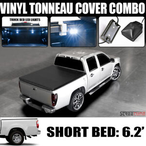 Hidden Snap Tonneau Cover white Led Light For 00 06 Toyota Tundra 6 2 Short Bed