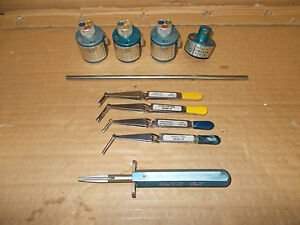 Daniels dmc Insert extract Tools And Turret Crimp Tools 10 Piece Lot