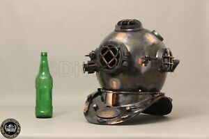 Collectible U S Navy Mark V Diving Divers Helmet Solid Copper Brass Full Size