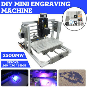 3 Axis Mini Diy Cnc Engraving Router Milling Machine Kit 2500mw Laser Engraver