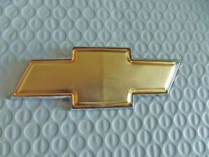 New For Chevrolet Gold Bowtie Emblem Chevy 130mm X 49mm Free Us Shipping