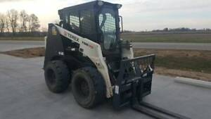 2011 Terex Tsr70 Skid Steer Cab Heat Ac Low Hours Ready To Work Bucket Forks