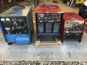 Welder Lot Lincoln Idealarc Cv 400 Square Wave Tig 275 Miller Mc 300vs