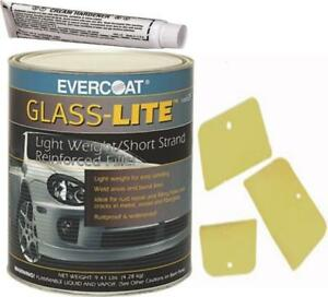 Evercoat 639 Glass lite Short Stand Reinforced Filler 0 8 Gallon With Spreaders