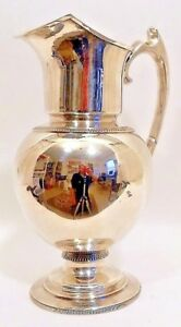 A Large Southern Coin Water Pitcher New Orleans C 1861 65