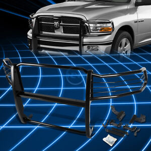 Black Brush Bumper Protector Grille Guard For 2009 2018 Dodge Ram 1500 Pickup