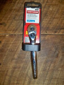 Craftsman Tools Ratchet High Polish Quick Release 1 4 1 4 In Drive 2072 92072