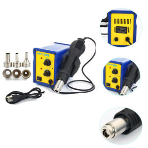 858 110v Smd Esd Rework Welder Soldering Station Hot Air Gun Desolder Tool Kit