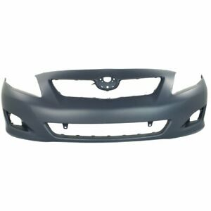 Bumper Cover For 2009 2010 Toyota Corolla Front Paint To Match W fog Light Holes