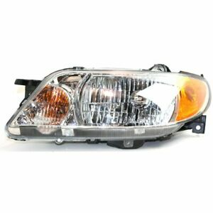 Headlight For 2001 2002 2003 Mazda Protege Left Halogen With Bulb