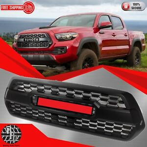Fit For Toyota Tacoma Oem Trd Pro 2016 To 2019 Matte Black Front Bumper Grill