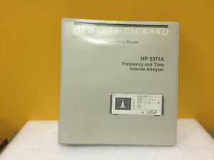 Hp Agilent 05371 90014 5371a Frequency Analyzer Programming Manual