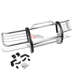 For 84 01 Jeep Cherokee Xj Suv Stainless Steel Front Bumper Brush Grille Guard