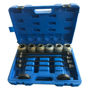 Press And Pull Sleeve Kit Remove Install Bushes Bearings Garage Tool Metal 27pc