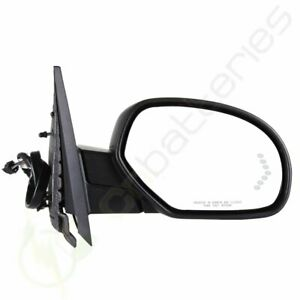 For Chevy Gmc Power Fold Heated Puddle Signal Memory Black Passenger Side Mirror