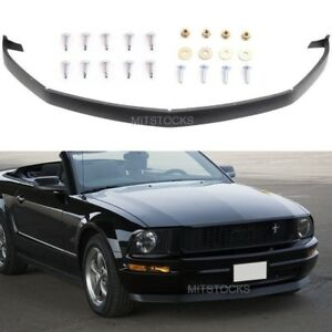 Fits 05 09 Ford Mustang V6 Only Ik Style Pu Black Front Chin Bumper Lip Spoiler