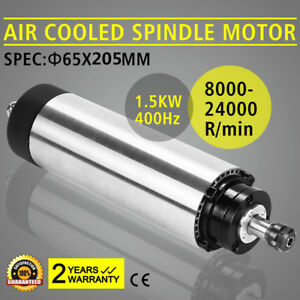 1 5kw Air Cooled Spindle Motor Er11 65x205mm 220v 24000rpm For Cnc Router Mill
