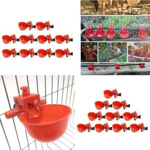 20 Pack Poultry Water Drinking Cups Plastic Chicken Hen Automatic Drinker