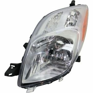 Halogen Headlight For 2007 2008 Toyota Yaris Hatchback Left Capa