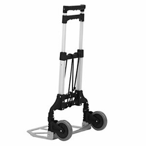 Finether Aluminum Hand Truck Foldable Dolly Cart 80kg 176 4 Lbs Capacity Compact