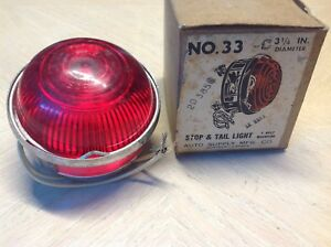 Nib Vintage Stop And Tail Lamp Farelite 12volt No 33 Early Auto Truck Trailer