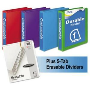 Mead 66514au D ring View Binders Bundle Pack 1 Capacity 250 Sheet Capacity