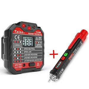 Electrical Outlet Receptacle Socket Tester And Non Contact Voltage Tester New