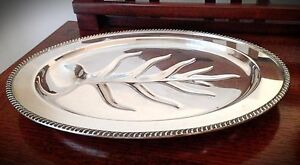 Vintage Wm Rogers Avon Silverplate Meat Tray No 3610 18
