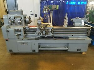 Hwacheon 17 X 60 Lathe Gap Bed Read Outs Steady Rest 3 jaw
