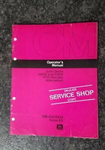 John Deere Operators Manual 40kw 55kw Pto Standby Alternators Om ga10434