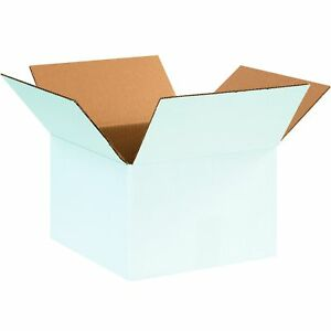 Tape Logic Tl12128w Corrugated Boxes 12 X 12 X 8 White pack Of 25 New
