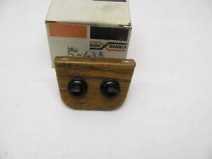 Vintage Bwd S633 Universal Dual 15 Amp Toggle Switches W Panel Fog Light Acc