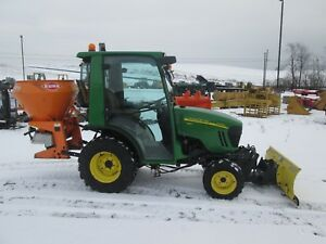 John Deere 2320 Used Farm Tractor With Snow Plow And Salt Spreader 2147