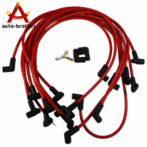 Ultra 40 Red Spark Plug Wires Set Big Block Jdmspeed For Chevy Bbc 454 502 Hei