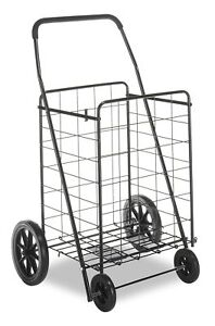 Extra Large Shopping Cart Collapsible Folding Rolling Heavy Duty Grocery Lau