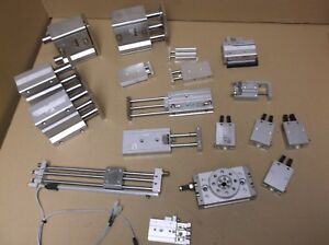 Lab Lot Smc Pneumatic Cylinders Mixed Lot Mhc2 20d Mgqm32 38 z73 xc18 Cxsm10 20