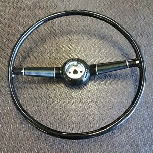 New 1940 Ford Deluxe Gloss Black Steering Wheel 17
