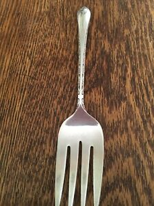 Wm Rogers Son Silver Plate Exquisite Serving Fork 8 75 Inches