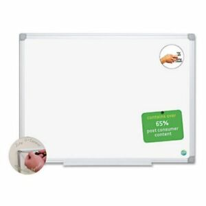 Mastervision Easyclean Dry erase Board 24 Width X 18 Height White Melamine