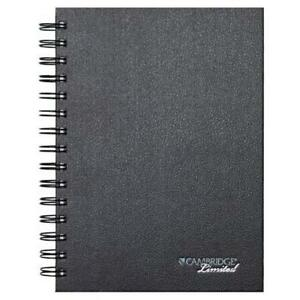 Mead Cambridge Poly Pocket Hardbound Business Notebook 96 Sheets 192 Pages