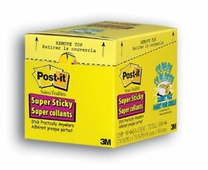 Post it Super Sticky Canary Lined Cabinet Pack Self adhesive Repositionable